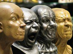 FRANZ XAVER MESSERSCHMIDT sculpture heads a by VanGogui.deviantart.com on @deviantART