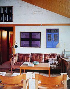 Private home of the Danish furniture designer Børge Mogensen (1914-1972) in Gentofte, Denmark