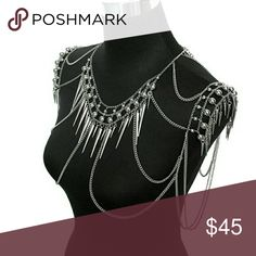 Over the shoulder body jewelry statement piece NWOT Fashion Jewelry Jewelry Necklaces