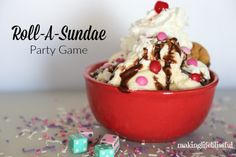 Making Life Blissful: Roll-A-Sundae Ice Cream Party Game