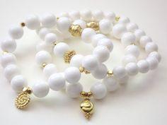 Love white bracelets for summer.