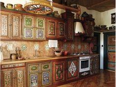 Кухня в русском народном стиле (кухня, русский, народный, стиль)