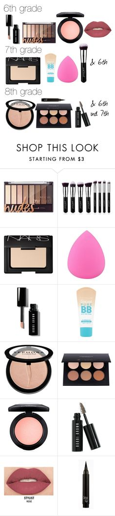 """Middle School Makeup"" by katerogers219 on Polyvore featuring beauty, NARS Cosmetics, Zodaca, Bobbi Brown Cosmetics, Maybelline, Sephora Collection, MAC Cosmetics and Smashbox"