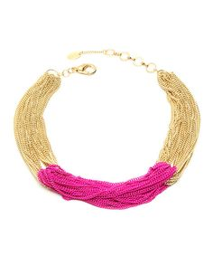 Look at this Fuchsia Sylvana Necklace on #zulily today!