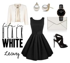 """""""Life in Black and White"""" by lecarg0830 on Polyvore featuring Jacques Vert, Rebecca Minkoff, KG Kurt Geiger and CLUSE"""