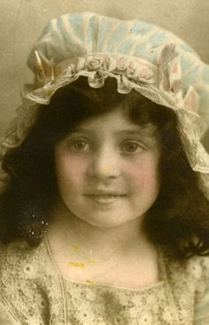 Unknown French girl, sent from France during the First World War.