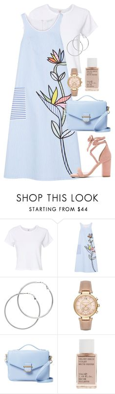 """Baby Blue"" by bubble-tea-dan ❤ liked on Polyvore featuring RE/DONE, Mira Mikati, Melissa Odabash, Michael Kors, Cynthia Rowley, Korres, Raye, Blue, floralprint and women"