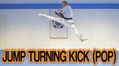 Taekwondo Jump Turning Kick/Roundhouse Kick (Pop Method) | GNT - YouTube
