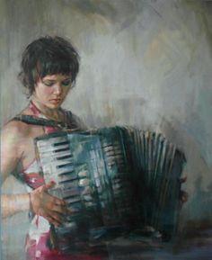 Accordion girl | Art | Pinterest | Girls