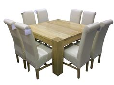 Image detail for -R895 - Solid Oak Square Dining Table