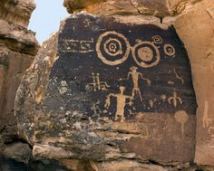 Ancient Petroglyphs, Pictographs, and Cave Drawings. I spy some circular Galifrayian.
