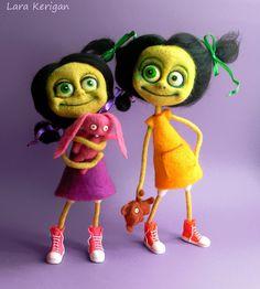 Halloween на Sees-All-Colors. Войлочные игрушки Lara Kerigan
