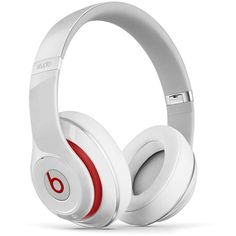 Beats by Dr. Dre Studio Headphones ($300) ❤ liked on Polyvore featuring white and beats by dr. dre
