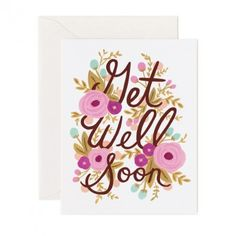 Get Well Soon Card by Rifle Paper Co.