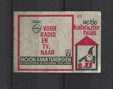 Philips for Radio and Television Vintage Dutch Matchbox Label No.21 | eBay