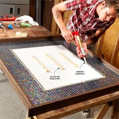 Diy Mirror Frame Tile Glass Tile Diy Decorating Frame Your Mirror With Glass Tile The Family Handyman Diy Decorating Frame Your Mirror With Glass Tile The Family Handyman