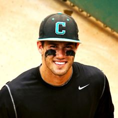 Brian Pruett. Well he's just all sorts of attractive! Guys in baseball caps = uber attractive (but hats facing forwards. Backwards is just douchey)