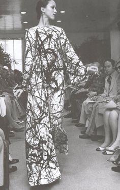 #simply Jackson Pollock-inspired Halston dress.