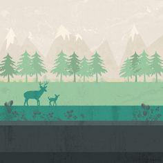 Wilderness Art Print by Kakel