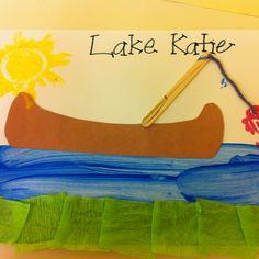 Preschool craft for lake theme
