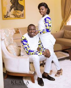 Last 2019 Ankara Styles for Couples . Ankara styles for couples are a standout amongst the most idea. Couples African Outfits, African Dresses Men, African Clothing For Men, African Shirts, Couple Outfits, African Attire, African Wear, African Style, Nigerian Men Fashion