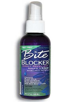 TRULY AND TOTALLY WORKS! Bite Blocker Insect Repellent- I hated the thought of using chemicals on my kids, and my youngest son has horrible reactions to mosquito bites ( extreme swelling & cellulitis) so I bought this natural spray and hoped for the best. It blew me away! It kept the bugs from biting! I love this stuff and recommend it to everyone!