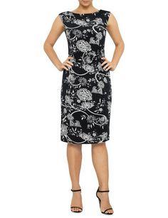 Printed Jersey Dress | David Jones