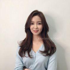 Korean Medium Hair, Korean Long Hair, Medium Hair Cuts, Medium Hair Styles, Curly Hair Styles, Permed Hairstyles, Hairstyles With Bangs, Girl Hairstyles, Hair Chart