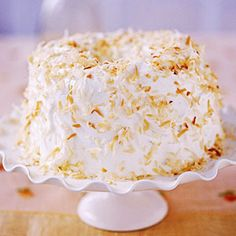 coconut-pecan angel food cake Recipe from