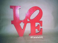Love wood letter handmade  LOVE en madera hecho a by CanelasGift