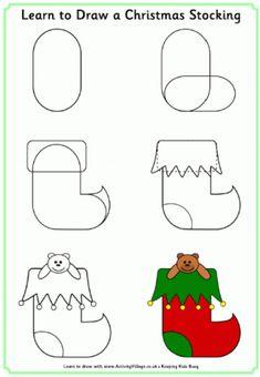 Apprendre à dessiner un bas de Noël