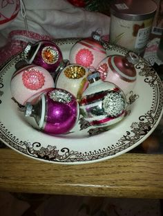Vintage Shiney Brite Ornaments for sale at Foxglove Antiques in Wiggetts Antique Marketplace downtown CDA, ID