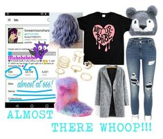 """""""ALMOST THERE WHOOP!!!"""" by loveanrisonohara ❤ liked on Polyvore featuring Steve Madden, San Diego Hat Co., River Island and Charlotte Russe"""