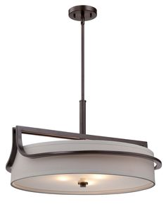 """Three Light Pendant - this would be hung only 6"""" from the ceiling."""