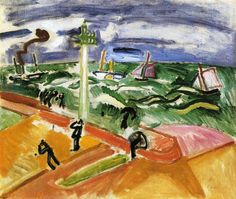 Storm At Sainte-adresse by Raoul Dufy Handmade oil painting reproduction on canvas for sale,We can offer Framed art,Wall Art,Gallery Wrap and Stretched Canvas,Choose from multiple sizes and frames at discount price. Cycle Painting, Oil Painting On Canvas, Canvas Art Prints, Raoul Dufy, Georges Braque, Art Database, Oil Painting Reproductions, Naive Art, Drawing
