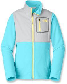 The North Face Female Glacier Track Fleece Jacket - Girls'