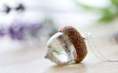 $27.95) Dandelion Acorn Necklace  Dandecorn  Real Flower
