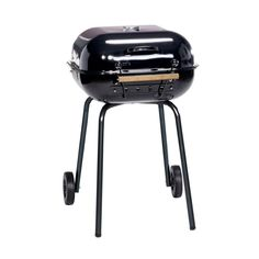 Americana Swinger Charcoal Grill in Black