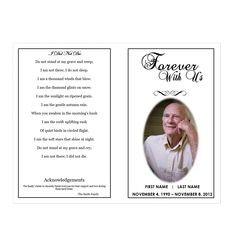 X Funeral Program Cover Template  Funeral Programs