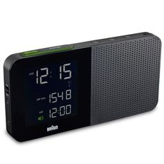 Braun's Digital Radio Alarm BNC010. The only thing more you might want in an alarm clock is a hot jolt of morning joe. Wake up with your favorite morning radio show or the crescendo of the staccato chirp.