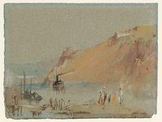 Joseph Mallord William Turner 'River Scene, with Steamboat', c.1826