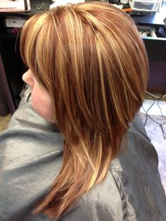 Kenra 6BC/6C foundation color with 20 volume highlights! Great summer color for a redhead!