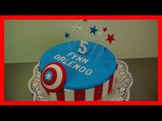 Captain America Torte - einfaches Captain America Fondant Torten Tutoria...