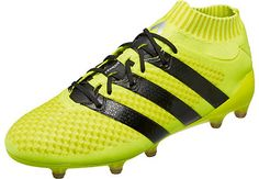 new style 79fce a1b3a adidas ACE 16.1 Primeknit FG Soccer Cleats - Solar Yellow   Silver Metallic  - SoccerPro.com