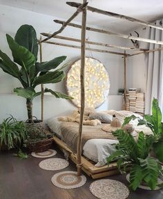21 Best Canopy Bed Examples To Introduce Into Your Bedroom Boho Be. - 21 Best Canopy Bed Examples To Introduce Into Your Bedroom Boho Bedroom Design With R - Bohemian Bedroom Decor, Boho Room, Earthy Bedroom, Romantic Bedroom Design, Indie Bedroom, Warm Bedroom, Light Bedroom, Bedroom Green, Dream Rooms