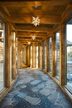 River Rock Floor Design, Pictures, Remodel, Decor and Ideas - page 9 House Design, House, Covered Walkway, Home, River Rock Floor, Hall Design, Breezeway, Flooring, Enchanted Home