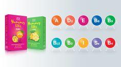 Yummy Vits este un complex de vitamine şi minerale de ultimă generaţie, sub formă de tablete masticabile. Ca gust şi textură, amintesc de marmeladă, însă nu conţin zahăr. Gustul dulce este dat dexylitol şi sorbitol care protejează totodată emailul dentar de carii. Toţi aromatizanţii din compoziţia Yummy Vits sunt naturali. Datorită aromei minunate, vitaminele Yummy Vits plac atât adulţilor, cât şi copiilor.