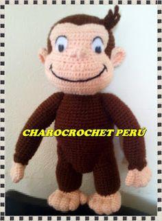 """Charo Crochet: PATRON JORGE EL CURIOSO """"REGALO POR EL DIA DEL NIÑ..."""