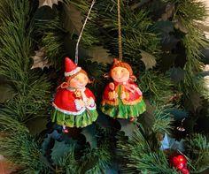 новогодние феи, елочные игрушки, елочные жители Fimo Clay, Ceramic Clay, New Year Holidays, Christmas And New Year, Sculptures, Felt, Pottery, Ceramics, Dolls
