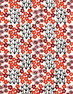 Japanese Patterns in Red Japanese Textiles, Japanese Patterns, Japanese Prints, Japanese Design, Motifs Textiles, Textile Prints, Textile Patterns, Japanese Paper, Japanese Fabric